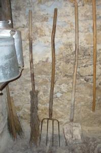 stéia, fórcia, badì da stala (materiale personale di Gilberto De Martin - Padola)